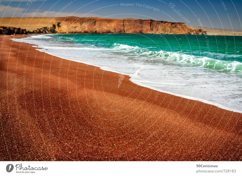 Red sandy beach in Paracas, Lima Peru Vacation & Travel Tourism Adventure Far-off places Freedom Sightseeing Cruise Expedition Summer Summer vacation Beach