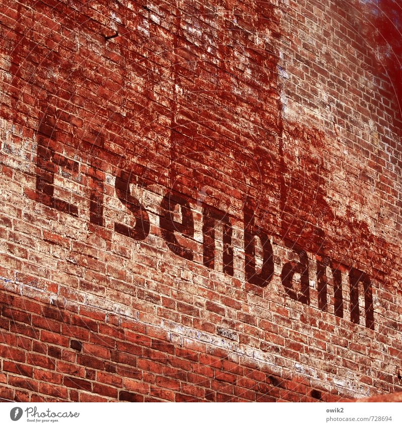 Old Red Wall (building) Building Wall (barrier) Germany Facade Transport Large Perspective Characters Tall Simple Railroad Tilt Historic