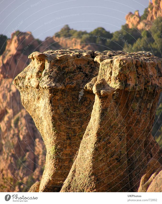 rock teeth Corsica Rock Landscape piana les calanches Nature Stone