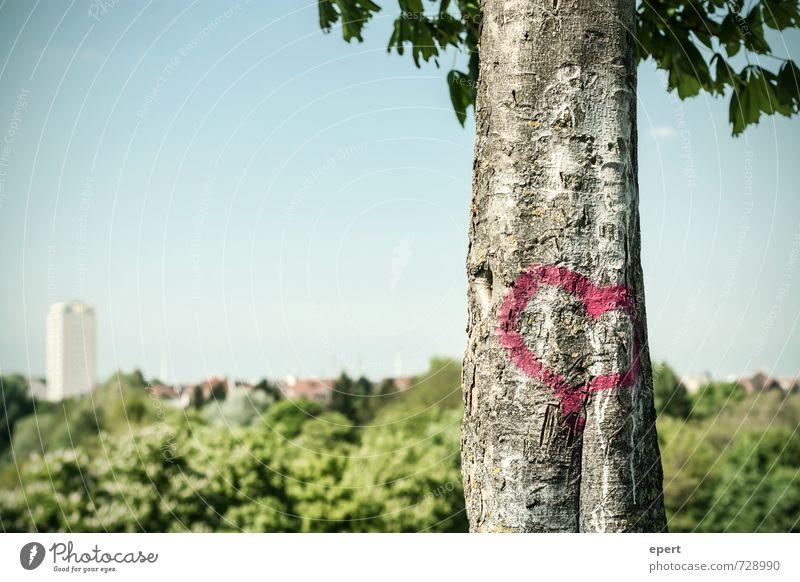 Sky City Plant Tree Forest Graffiti Emotions Love Spring Happy Garden Park Heart Uniqueness Joie de vivre (Vitality) Sign