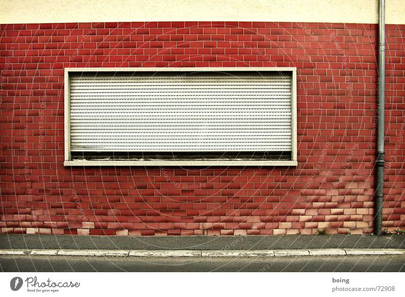 House (Residential Structure) Street Dark Window Sleep Closed Safety Transience Lantern Sidewalk Past Oversleep Roller shutter