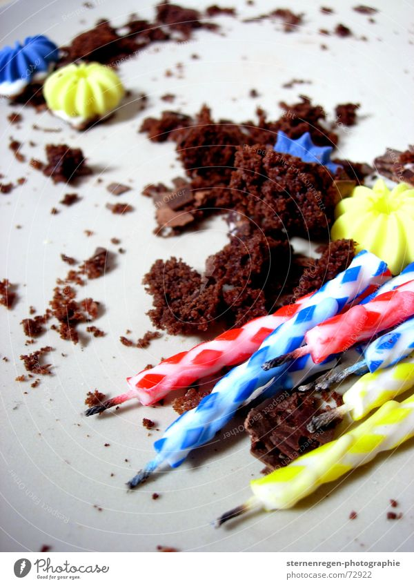 party Candle Cake Remainder Crumbs Past Transience Gateau Birthday Feasts & Celebrations