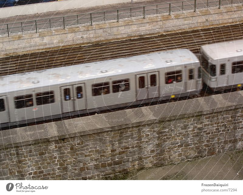 Snow Gray Wet Concrete Transport Speed Railroad tracks Underground Vienna Public transit