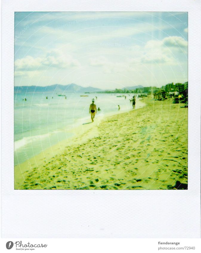 beachlife 3 Beach Ocean Relaxation Clouds White crest Waves Polaroid Sand Sun Freedom Salt Skin Walking