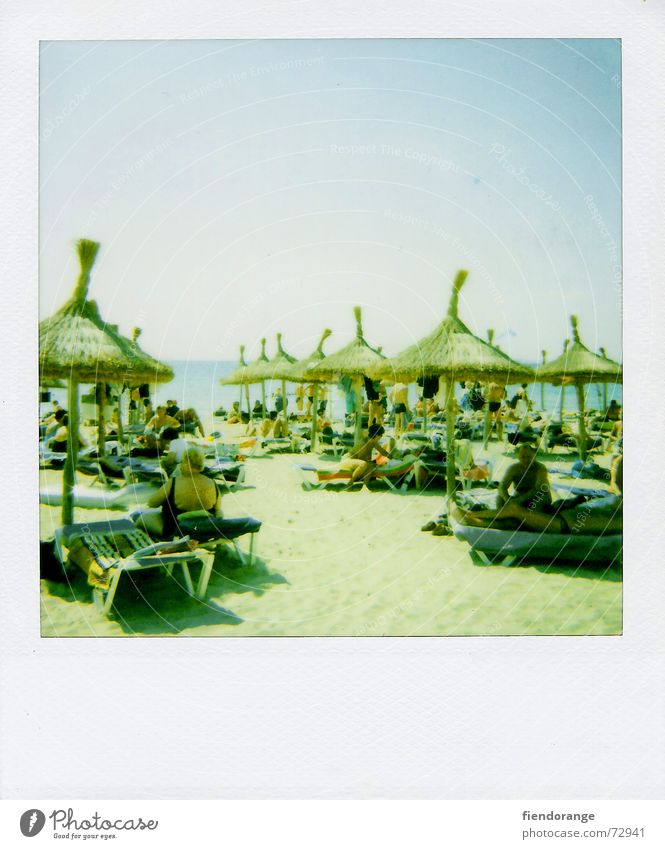 Sun Ocean Beach Clouds Relaxation Freedom Sand Waves Walking Skin Sunshade Barefoot Salt White crest Polaroid Majorca