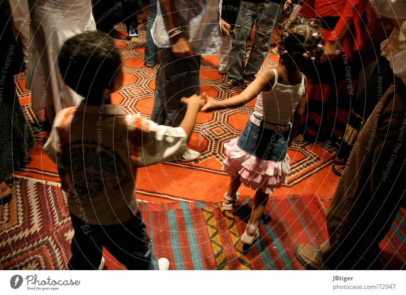 Child Summer Happy Legs Couple Music Dance Africa Happiness In pairs Soft Bar Conduct Carpet Egypt Light heartedness