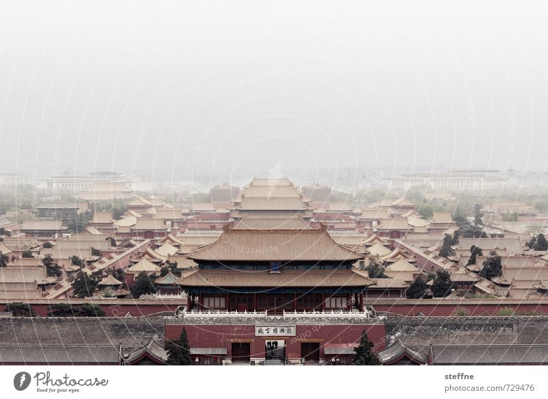 House (Residential Structure) Exceptional Fog Esthetic Fantastic Skyline Capital city Landmark Harmonious Exotic Tourist Attraction China Haze Old town Temple