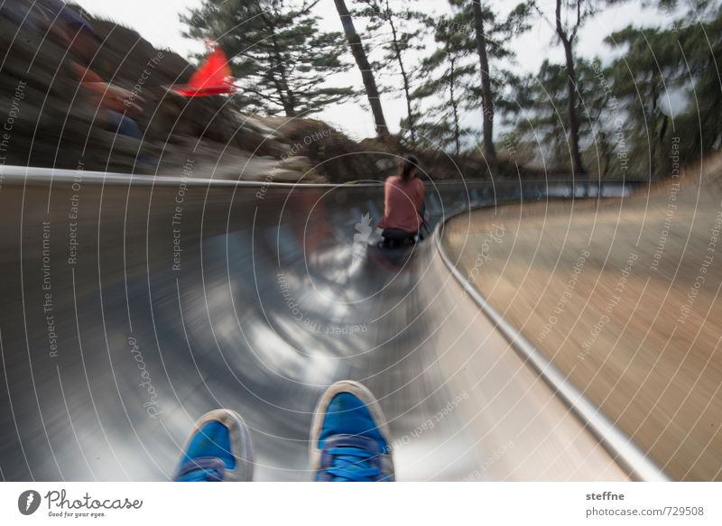 Joy Footwear Speed Driving Events China Downward Means of transport Thrill Depart Sledding Behind one another Mutianyu Tip of the foot Summer toboggan run