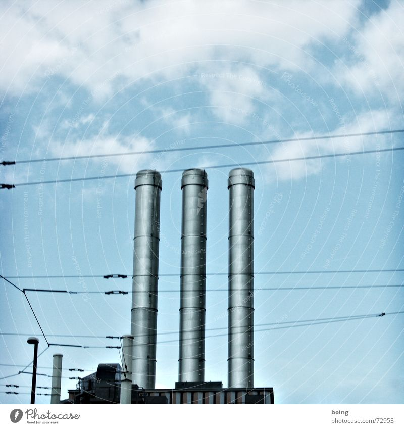 Sky Warmth Tall Electricity Industry Round Might Industrial Photography Net Factory Exhaust gas Chimney Climate change Industrial plant Parallel