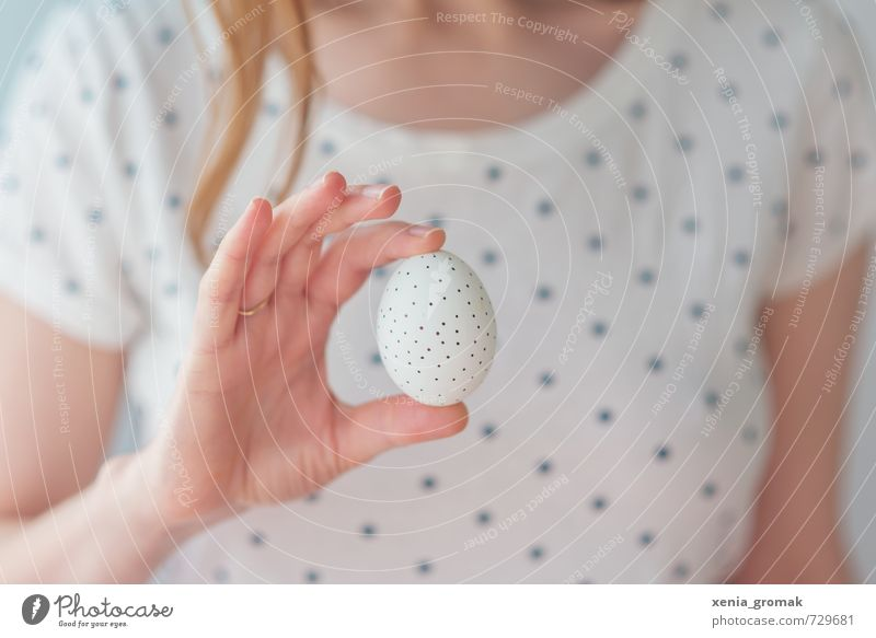 an egg Food Breakfast Organic produce Diet Fasting Feasts & Celebrations Easter Young woman Youth (Young adults) Hand Fingers Touch Esthetic Fresh Healthy