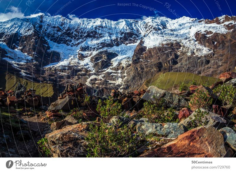glacier in Peru Vacation & Travel Tourism Trip Adventure Far-off places Freedom Summer vacation Snow Mountain Hiking Mountaineering Nature Landscape Sky