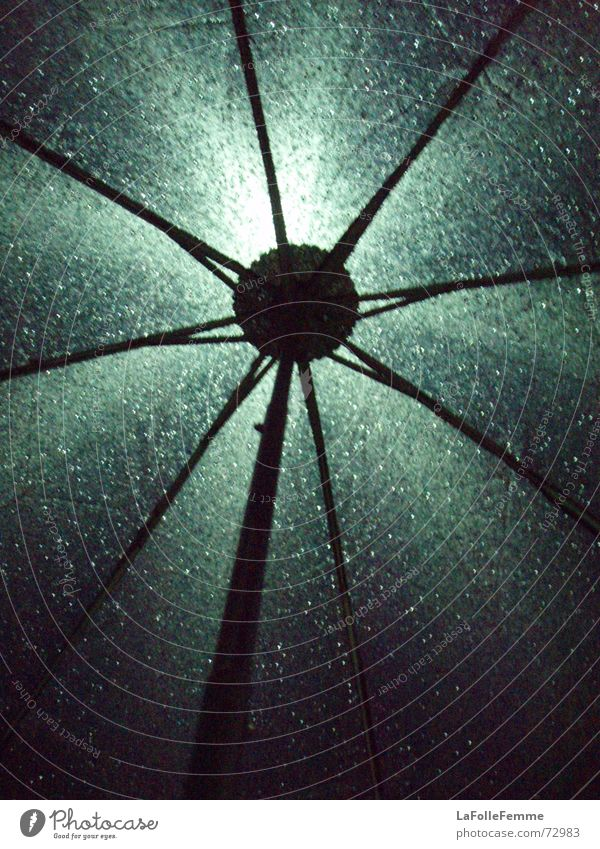 shiny umbrella 2nd part Umbrella Wet Light Dark Rain Drops of water darkness
