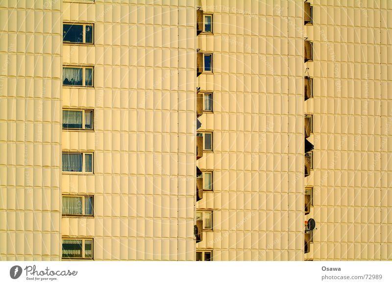 Window Facade Balcony Sixties Grid Bla Icebox Africa Cladding