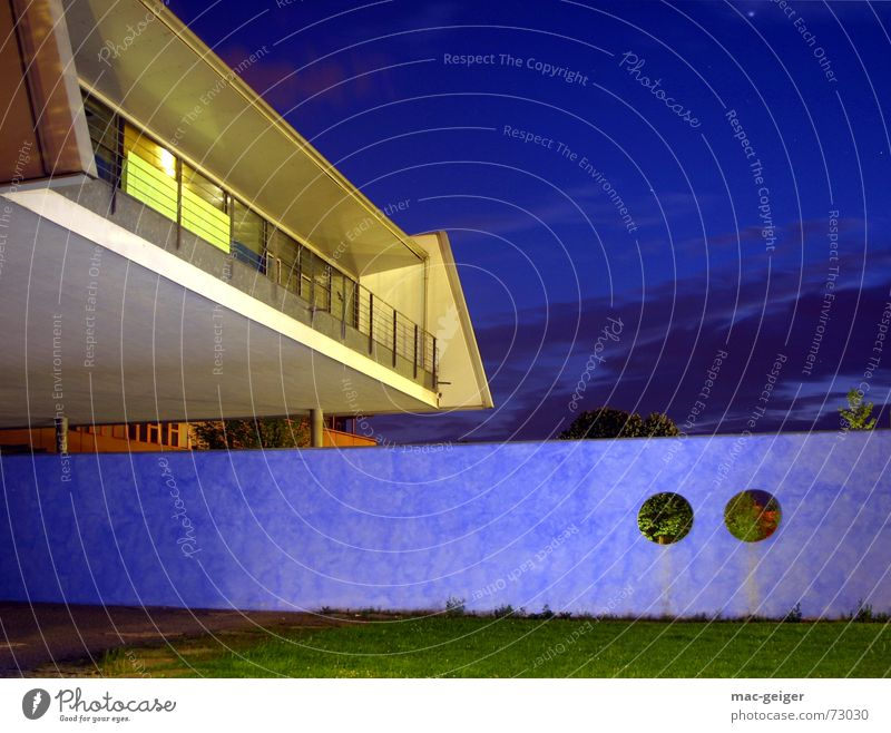 Building Academic studies Modern Media Manmade structures Stuttgart Technical Night shot New building Blended light
