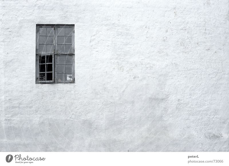 Window Wall (barrier) Vantage point Castle Historic Ruin Plaster Old building Insight