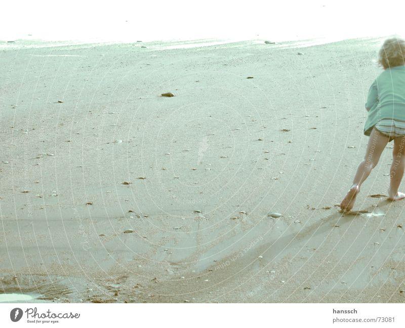 Ocean Summer Beach Boy (child) Playing Happy Sand Bright Walking Free Swimming & Bathing France Dazzle