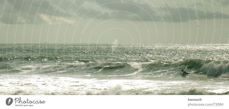 Ocean Beach Clouds Freedom Happy Waves France Dazzle Emotions Bodyboard