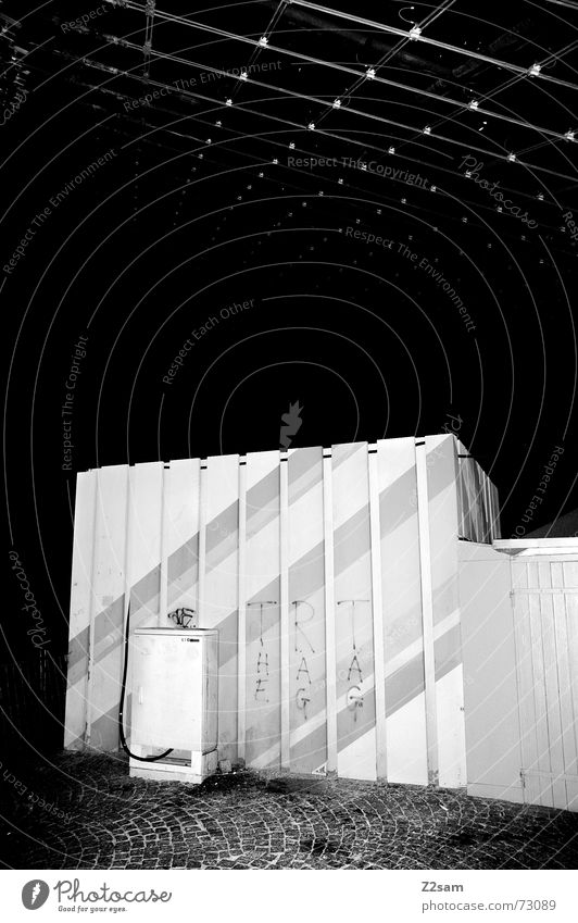 line cube Pattern Roof Night Style Light Black & white photo Structures and shapes munich Olympics street Box