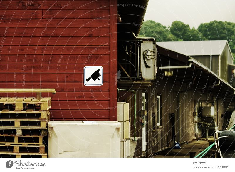 Secret Harbour Goods Storage Industry Surveillance Testing & Control Camera Surveillance camera Safety Dangerous Fear Panic