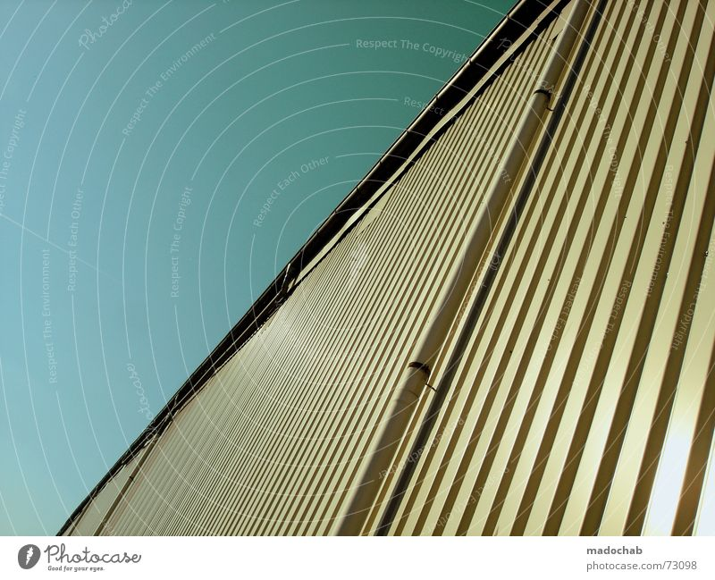 Sky Blue Wall (building) Wall (barrier) Line Industrial Photography Simple Division Illustration Tin Storage Aspire