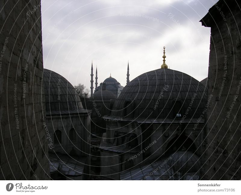 mosque Mosque Istanbul Turkey Domed roof Islam Grief Cold Religion and faith before the storm Architecture