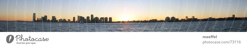 nightline New Jersey Sunset High-rise Hudson River Romance Panorama (View) Evening Water Large Panorama (Format)