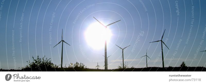 Sky Sun Calm Landscape Power Wind Energy industry Gale Wind energy plant Schleswig-Holstein Renewable energy
