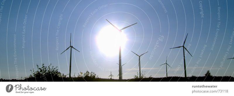 Sky Sun Calm Landscape Power Wind Energy industry Gale Wind energy plant Schleswig-Holstein Renewable energy