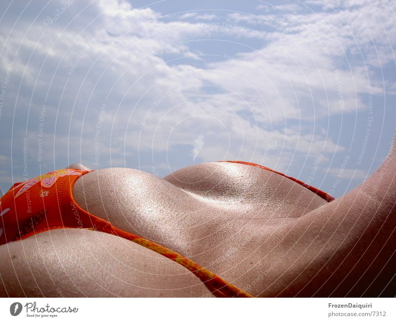 Woman Sky Sun Eroticism Orange Breasts Cooking & Baking Lie Chest Bikini Sunbathing Croatia
