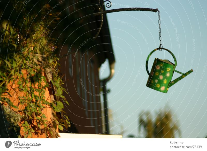 rain of flowers from... Flower Watering can House (Residential Structure) Summer Rain Chain Joy Cast Weather