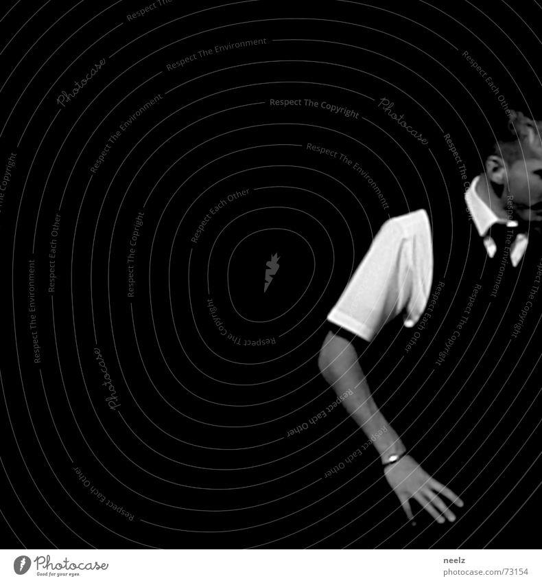 Human being Man Hand 2 Arm Glass Action Restaurant Services Shirt Black & white photo Gesture Waiter Proffer