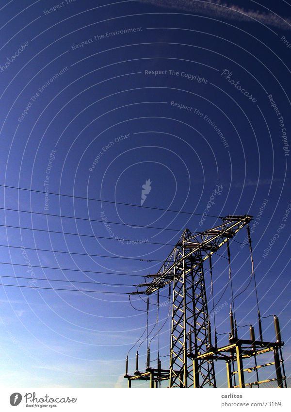 Blue Power Energy industry Electricity Cable Electricity pylon Performance Overhead line Insulator
