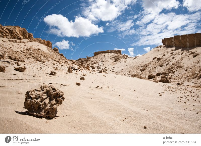 Sandstone in Formation Environment Nature Landscape Elements Earth Sky Clouds Summer Beautiful weather Warmth Coast Beach Ocean Wanderlust Pure Far-off places