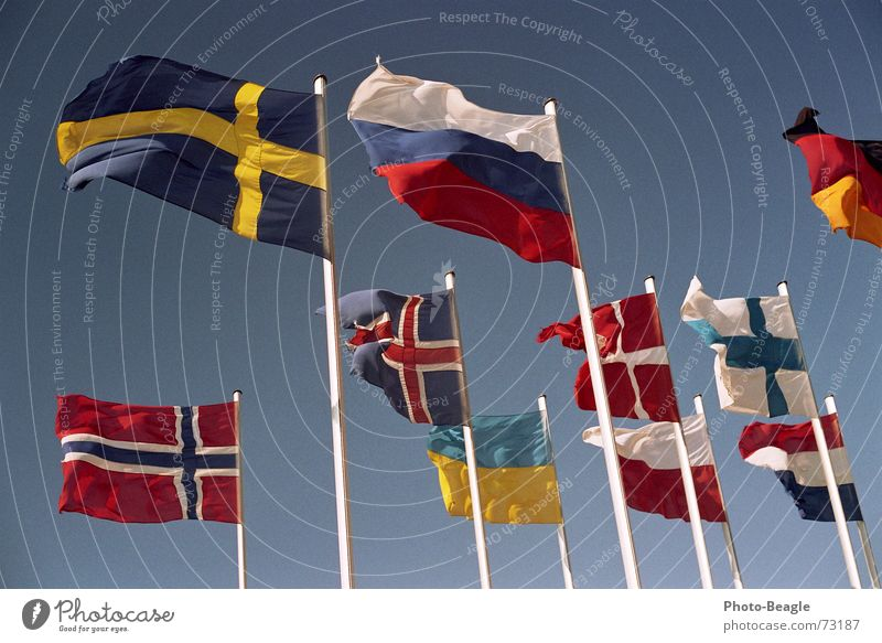 Flag in the wind IV Flagpole Scandinavia Northern Europe Eastern Europe Norway Finland Ukraine Beautiful weather Denmark Sky Congress center Administration