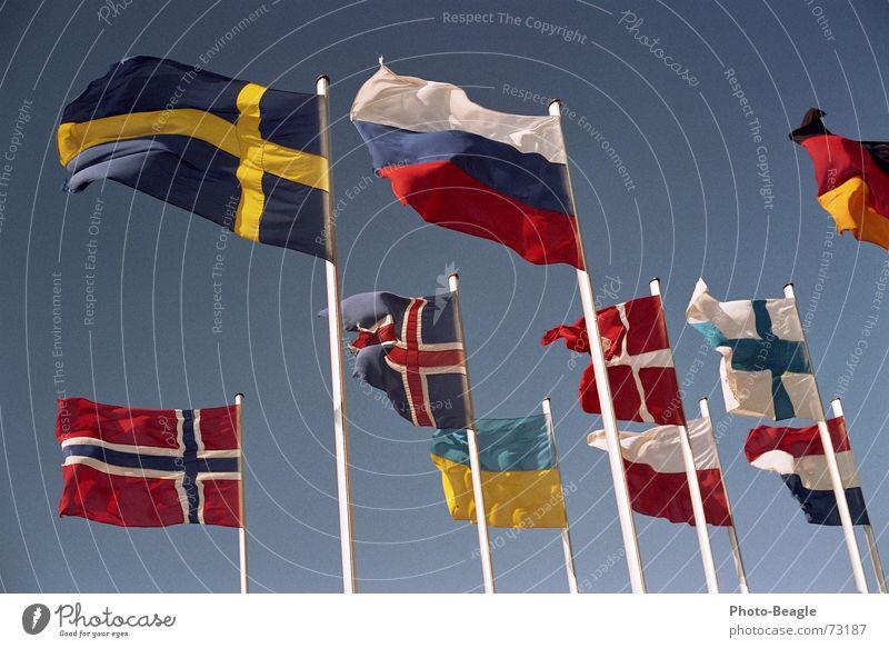 Sky Flag Things Russia Beautiful weather Sweden Norway Denmark Flagpole Finland Scandinavia Administration Ukraine Eastern Europe Northern Europe