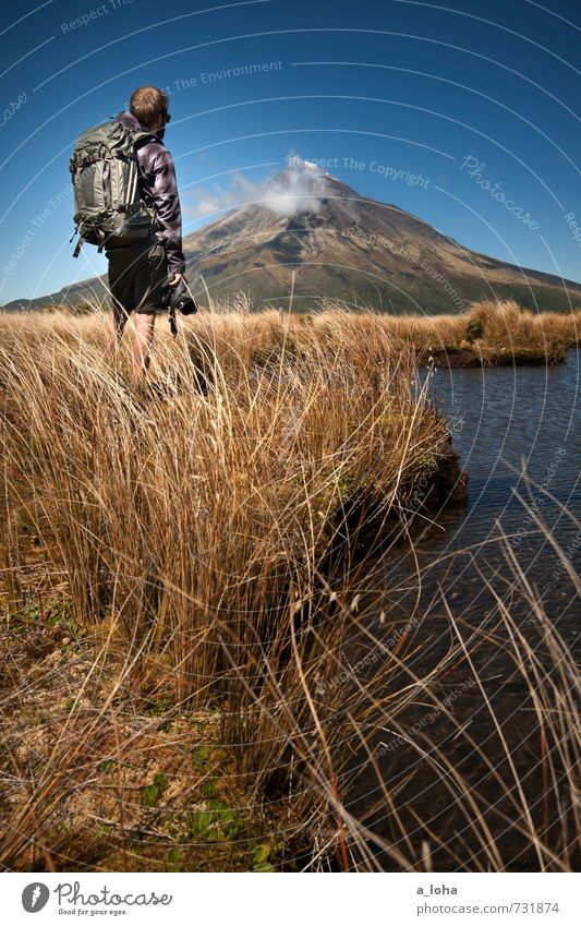 Human being Sky Nature Man Water Plant Summer Landscape Adults Mountain Grass Rock Horizon Masculine Lifestyle Earth