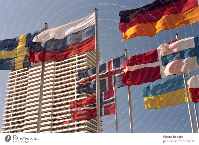 Sky House (Residential Structure) Building High-rise Flag Things Russia Beautiful weather Sweden Norway Denmark Flagpole Finland Scandinavia Administration