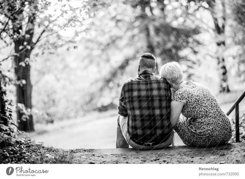 at your side Couple Partner 2 Human being Touch Sit Together Cuddly Positive Warmth Joie de vivre (Vitality) Trust Safety (feeling of) Honest Relationship