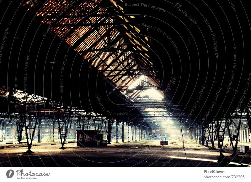 Old factory building Adventure Factory Economy Machinery Coal power station Industry Exhibition Architecture Sunlight Town Deserted Industrial plant