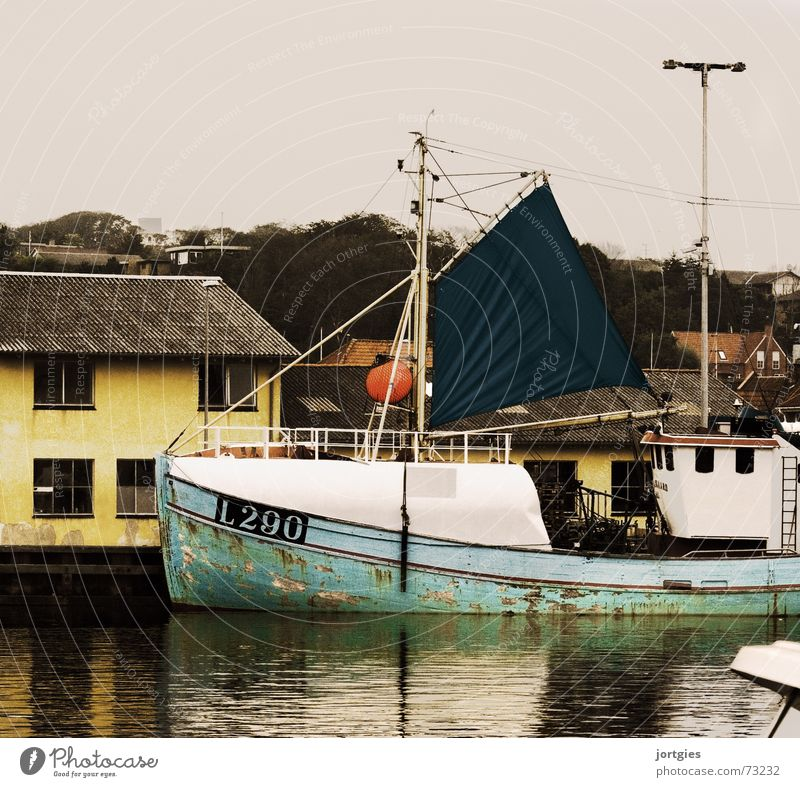 Water Ocean Work and employment Watercraft Industry Harbour Jetty Denmark Fishery Scandinavia Fishing boat