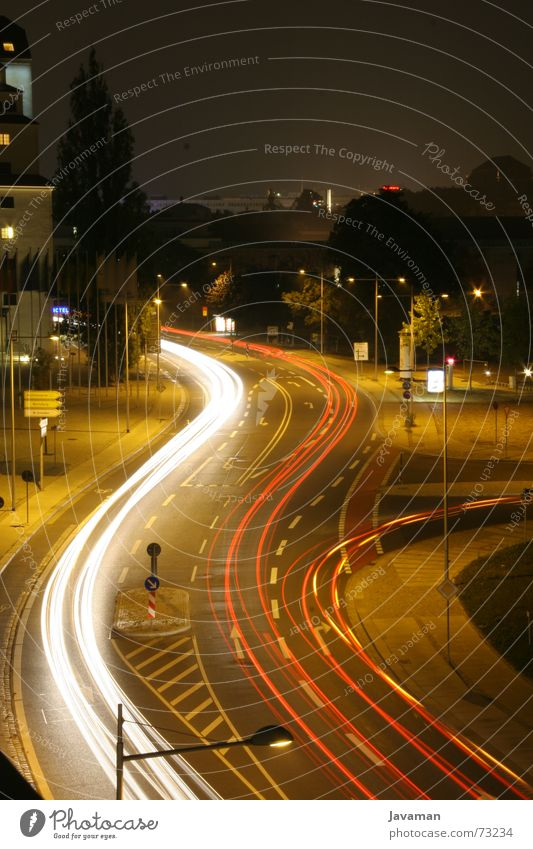 Long. Time. Long exposure Dresden Night Delay lantime aperture 32 Street Highway