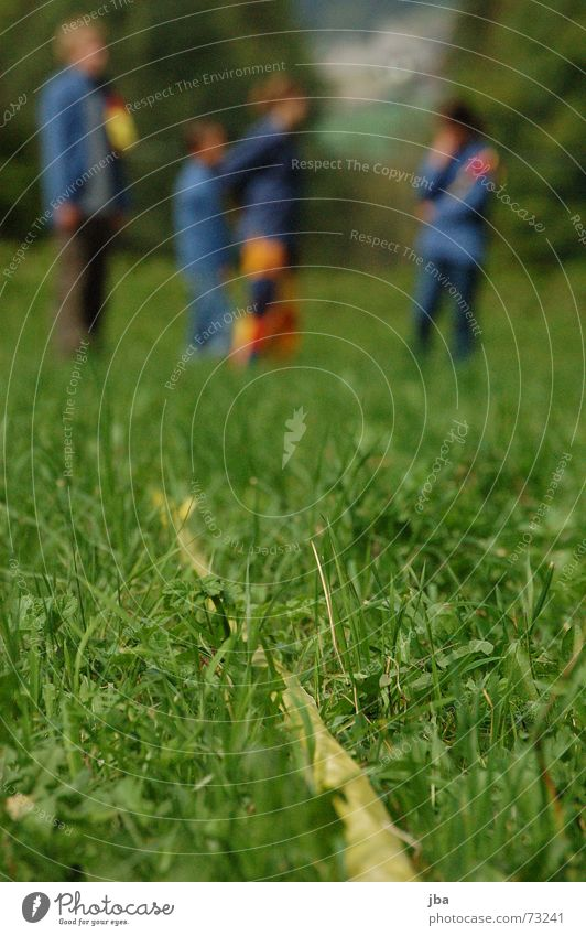 Man Green Yellow Meadow Playing Grass Border Statue Depth of field Americas Blade of grass Ladder Partition Dividing line