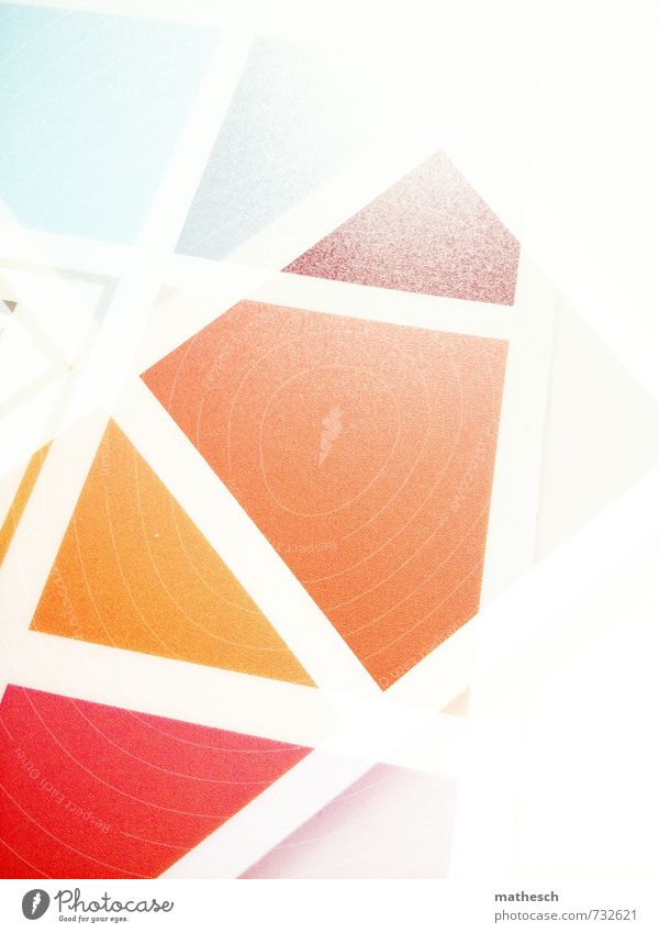 Homage to .marqs Glass Sharp-edged Bright Point Blue Brown Yellow Orange Red White Double exposure Pattern Colour Multicoloured Colour photo Interior shot