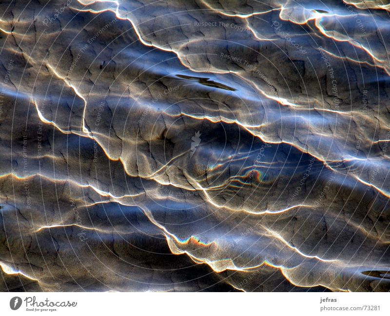 reflex Beach Nature brown Detail light ocean Reflection Sand sea shines texture underwater undulation wave waves