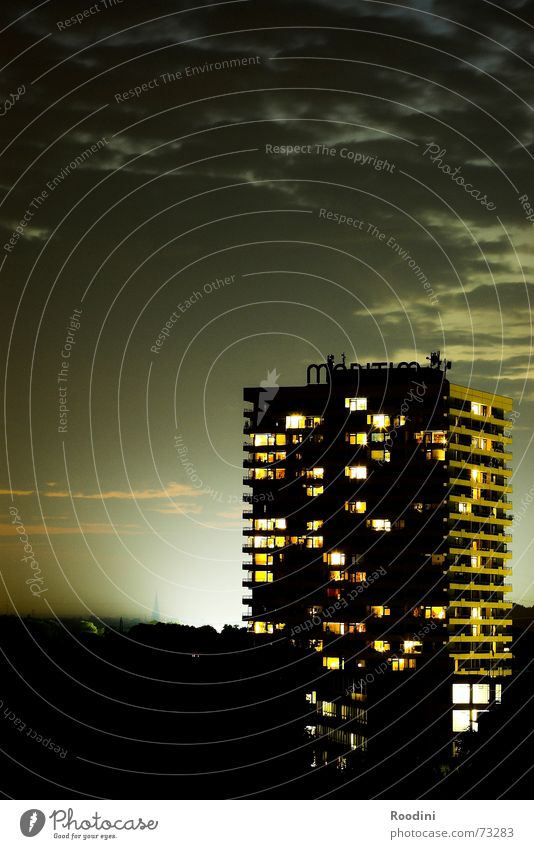 City House (Residential Structure) Clouds Window Building Landscape Room Flat (apartment) Fog High-rise Hotel Balcony Story Floodlight Night life