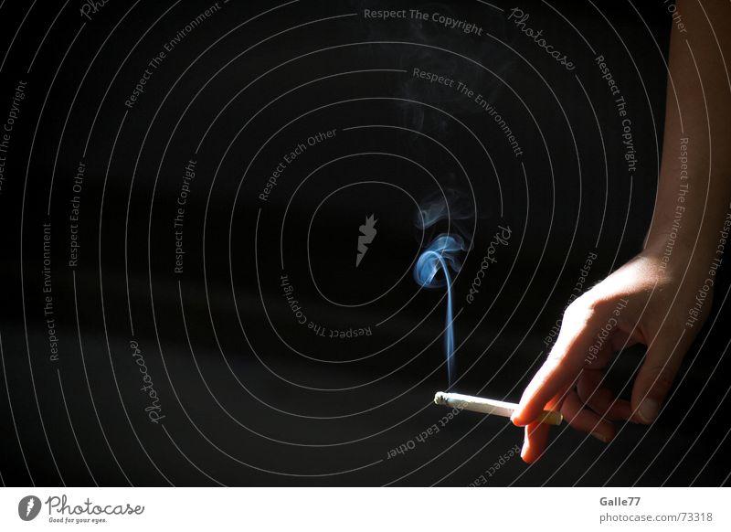 Blue haze Smoke Hand Cigarette Calm Break Light Vertical Easygoing Contrast lot