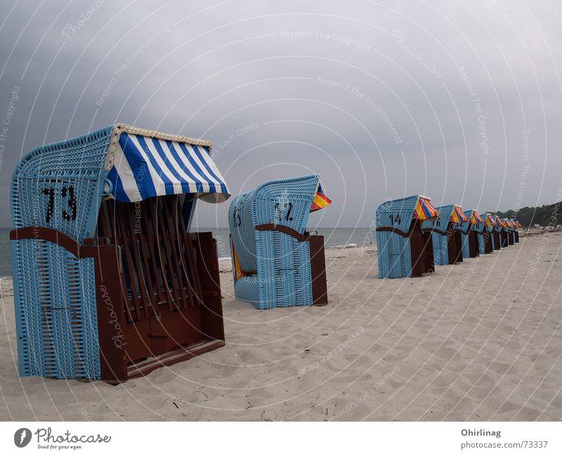 Ocean Blue Beach Vacation & Travel Calm Row Baltic Sea Beach chair Rerik