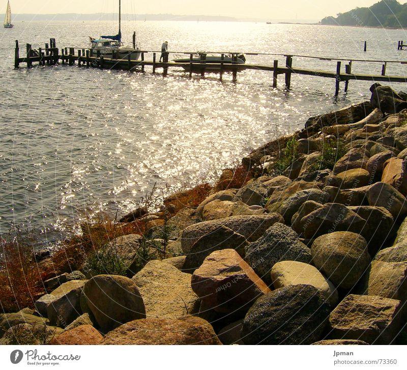 Water Sun Stone Warmth Watercraft Coast Physics Sailing Footbridge Slope Denmark