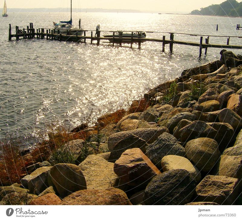 Water Sun Stone Warmth Watercraft Coast Physics Sailing Footbridge Slope Denmark