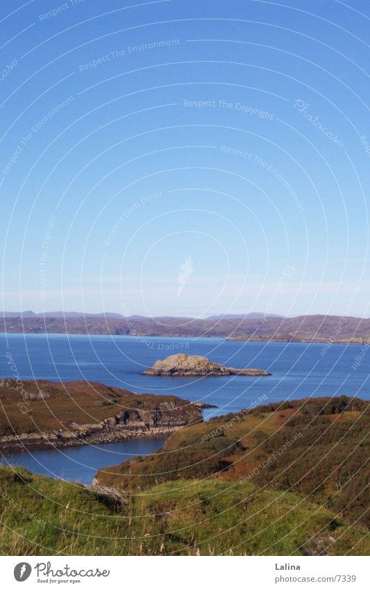 Scot_Island panorama Scotland Ocean Water island view Blue